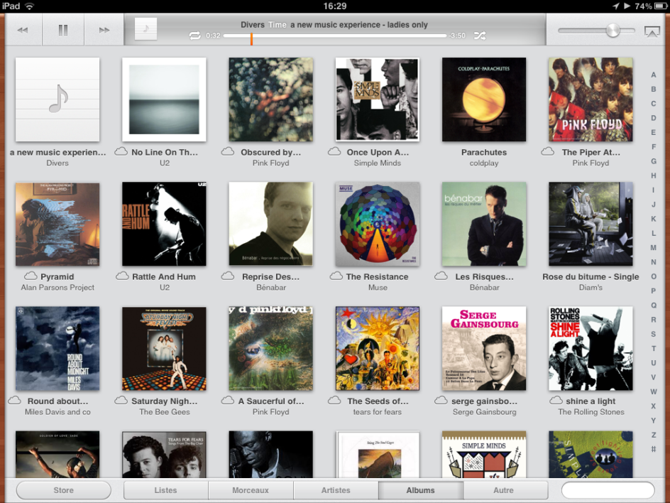 iTunes Match sur iPad