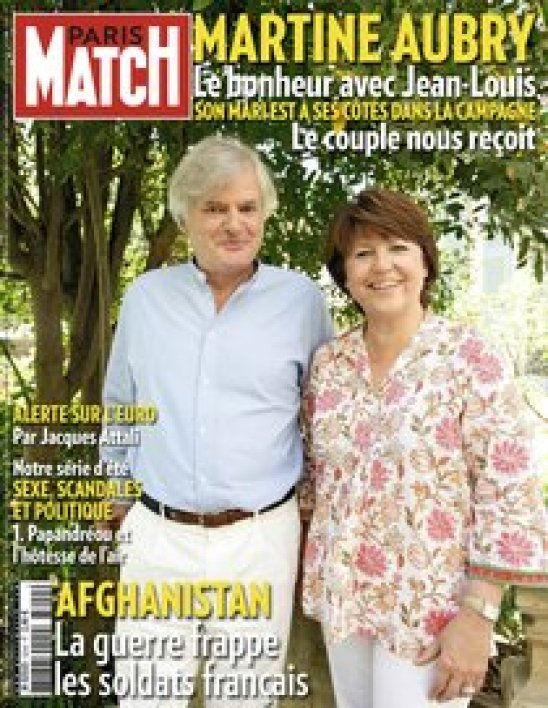 Martine Aubry et son mari en couverture de Paris Match