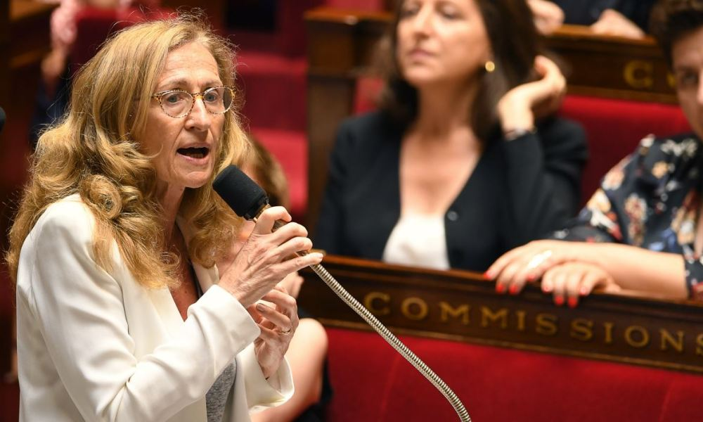 French Justice Minister Nicole Belloubet speaks during a session of questions to the Government at the French National Assembly in Paris on July 3, 2018.  Eric FEFERBERG / AFP