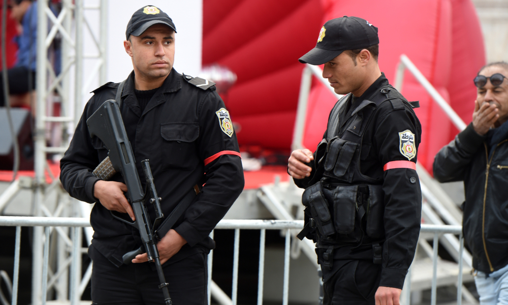 Des policiers tunisiens (photo d'illustration).