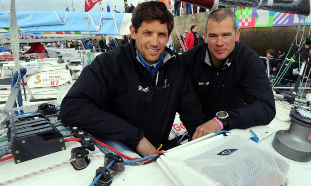 Thierry Chabagny et Erwan Tabarly