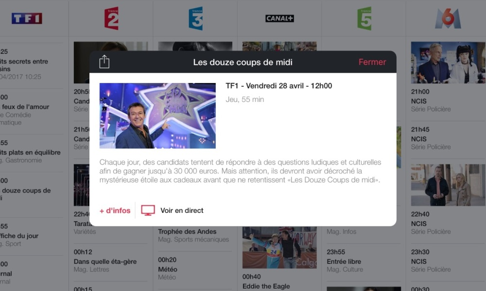 L'application MyCanal de Canal Plus permet de regarder TF1 en direct sur une tablette - 01net - Pierre Fontaine