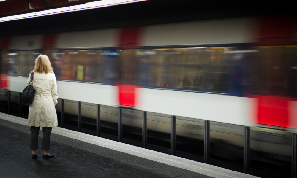 Le RER. (illustration)