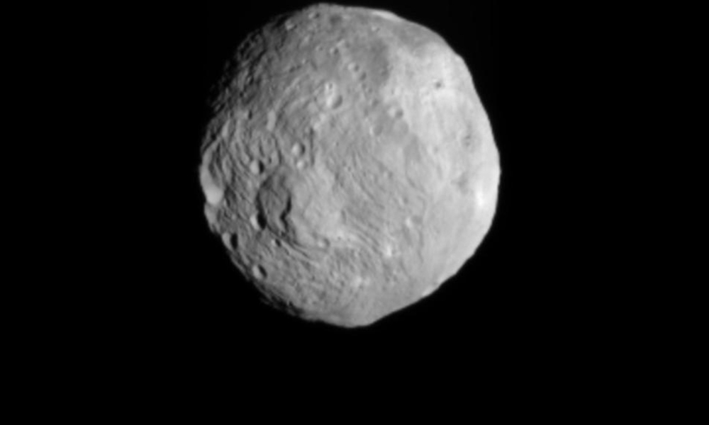 This picture provided bty NASA shows an image obtained by NASA's Dawn spacecraft of the giant asteroid Vesta with its framing camera on July 9, 2011.