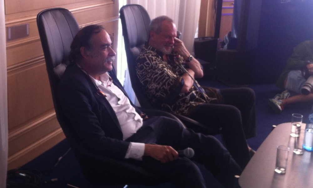 Paulo Branco et Terry Gilliam à Cannes en 2016