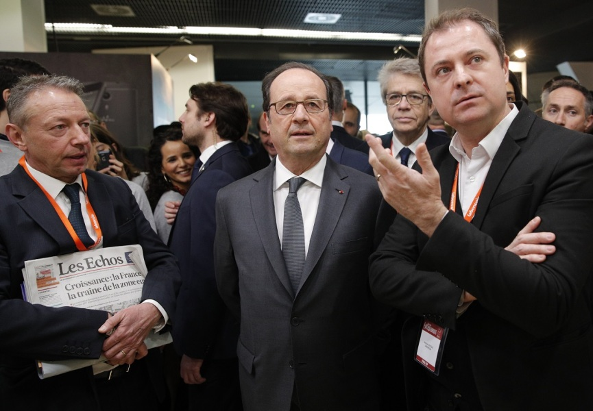 François Hollande au salon des entrepreneurs.