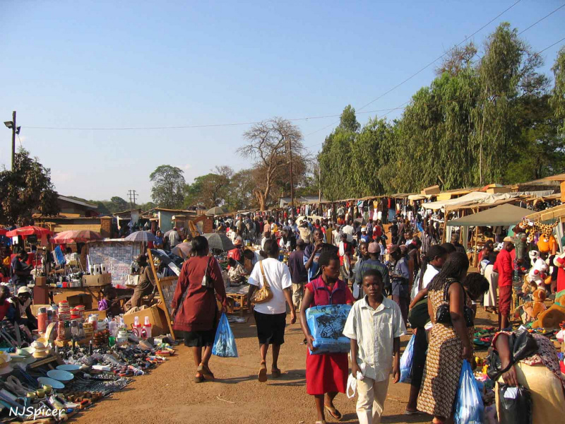 Un marché au Malawi - Illustration