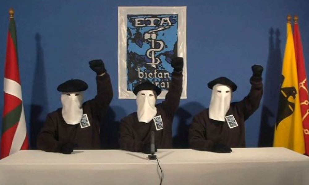 In this screen capture taken on January 10, 2011 from an ETA video 3 members of the Armed Basque separatists ETA