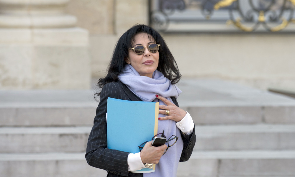 French junior minister for La Francophonie Yamina Benguigui leaves the Elysee Palace on March 26, 2014, in Paris, after the weekly cabinet meeting