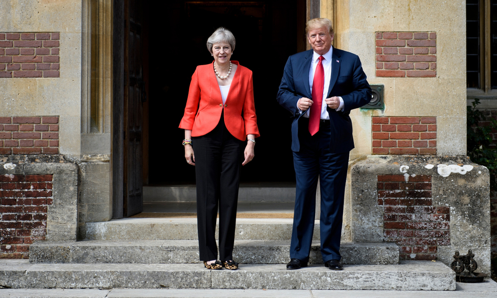 Theresa May et Donald Trump, le 13 juillet 2018, à Chequers.