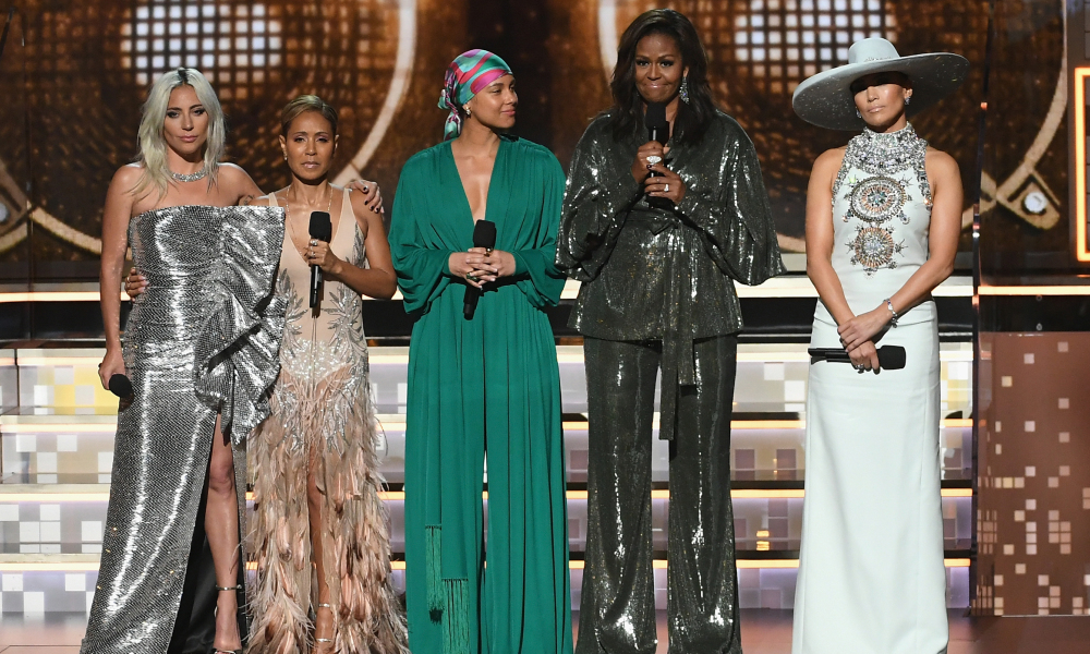 Lady Gaga, Jada Pinkett Smith, Alicia Keys, Michelle Obama et Jennifer Lopez
