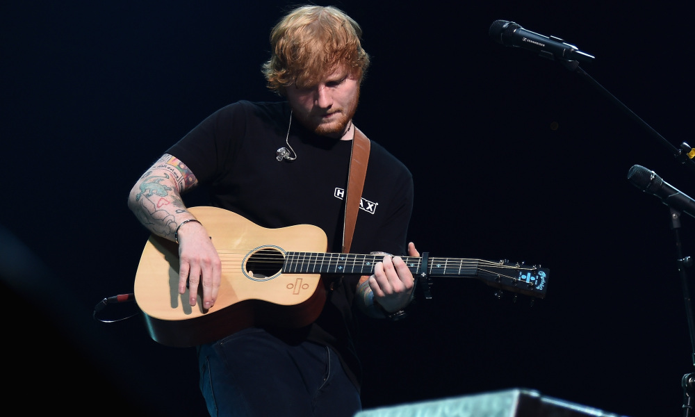 Ed Sheeran sur scène à New York le 30 septembre 2017