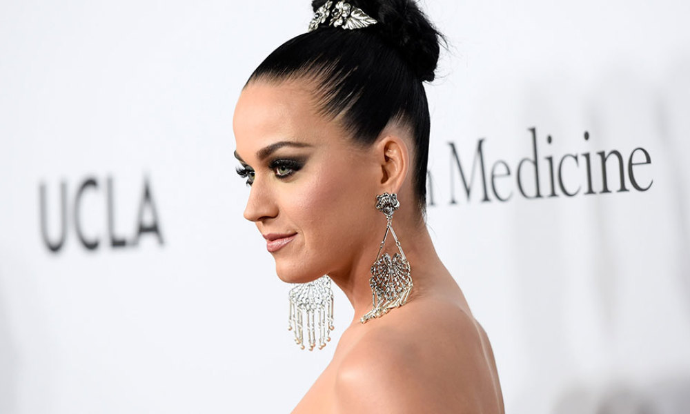 Recording artist Katy Perry attends the Sean Parker and the Parker Foundation celebration for the Launch of The Parker Institute for Cancer Immunotherapy, in Westwood, California, on April 13, 2016.