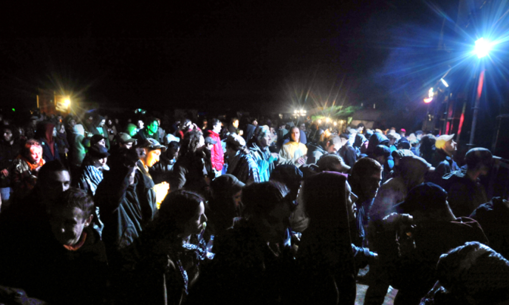 Une rave-party près de Dreux, en mai 2008 (image d'illustration). -