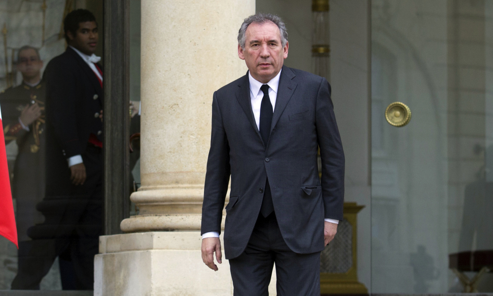 MoDem president Francois Bayrou leaves the Elysee Palace in Paris, on January 9, 2015 in Paris after a meeting with French President, after a deadly attack that occurred on January 7 by armed gunmen on the Paris offices of French satirical weekly newspaper Charlie Hebdo