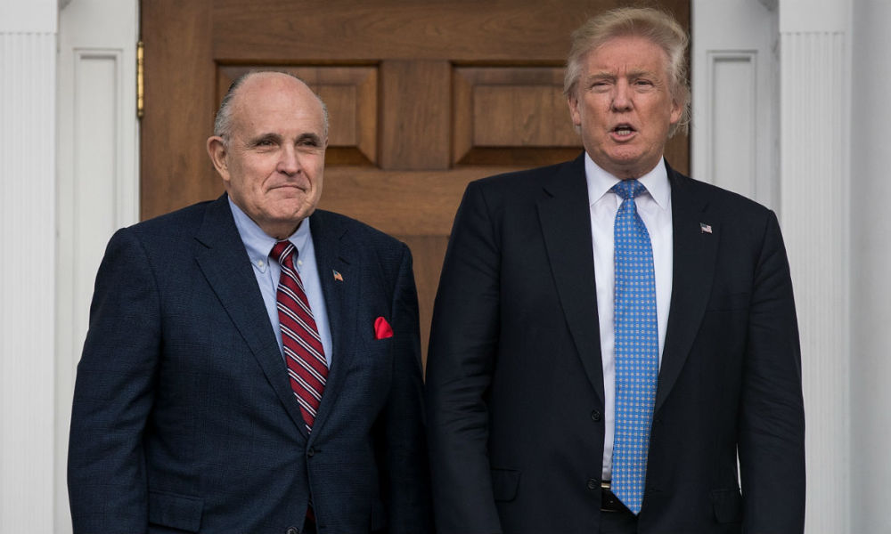 Rudy Giuliani, nouvel avocat de Donald Trump