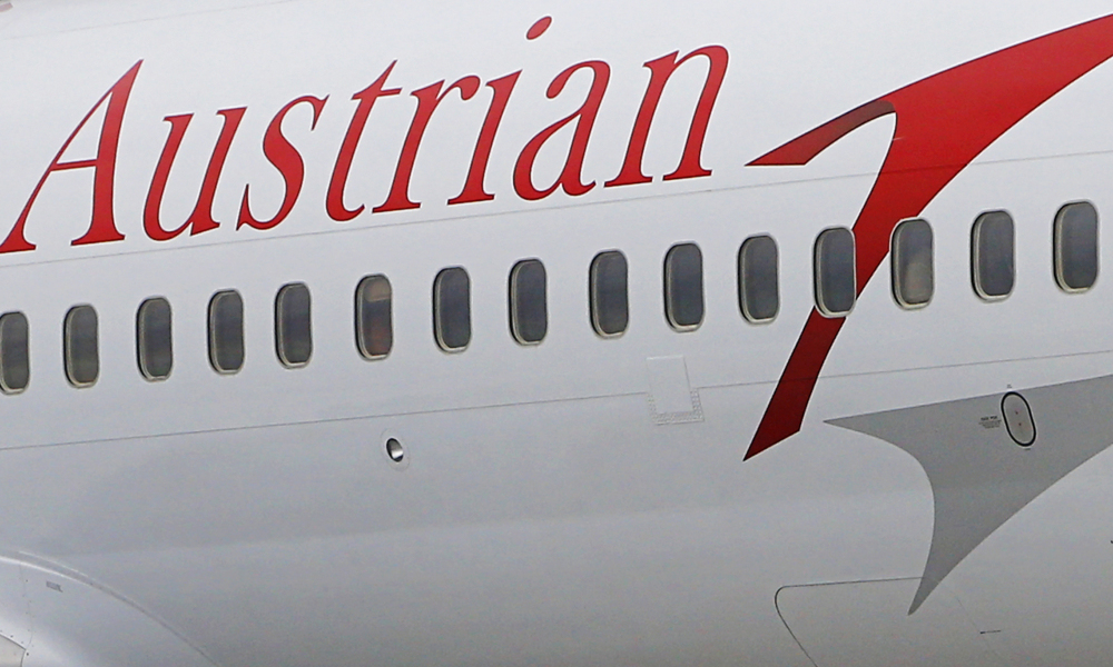Un avion d'Austrian Airlines (photo d'illustration).