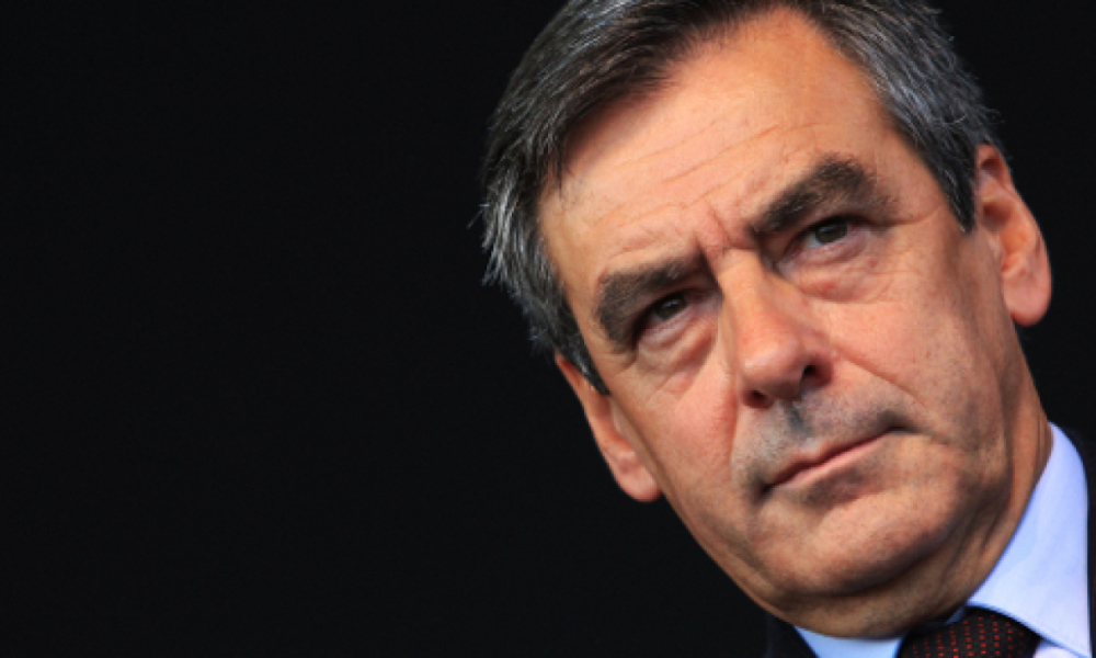 François Fillon, lors d'un meeting à Nice en 2013.