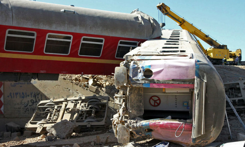 Un accident de train en Iran en 2012 (image d'illustration)