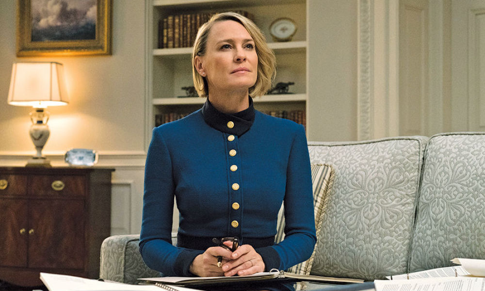 "Robin Wright dans la série ""House of Cards"""