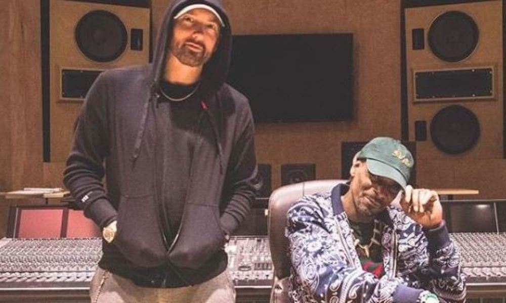 Eminem et Snoop Dogg en studio