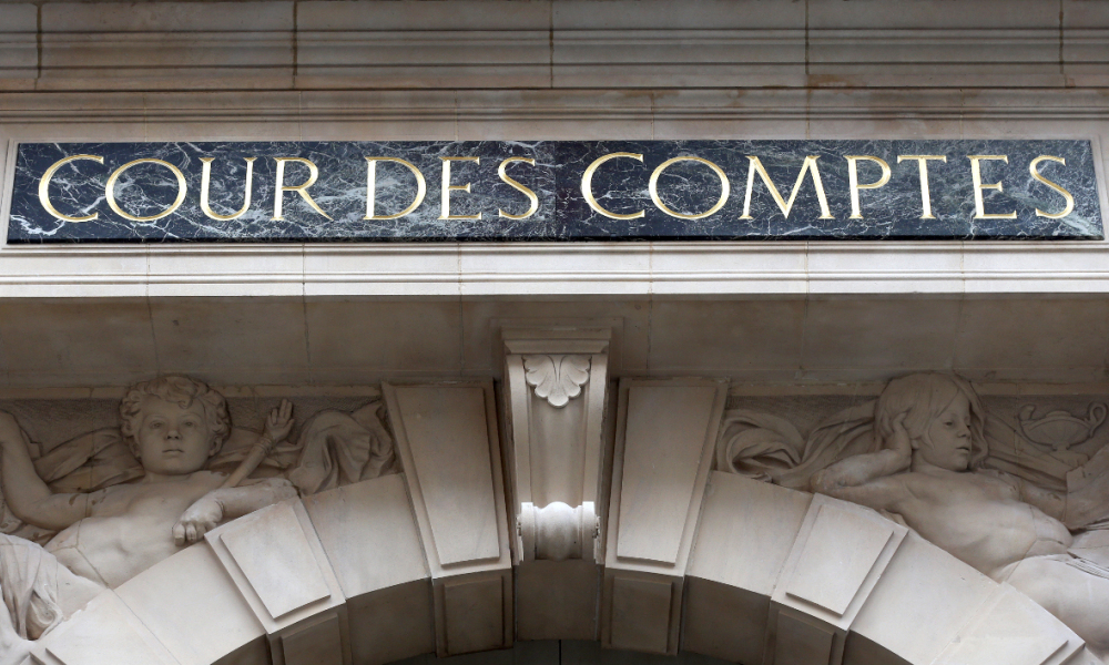 Picture of the facade of the French Court of Auditors (Cour des comptes) taken on January 22, 2013 in Paris. AFP PHOTO / THOMAS SAMSON  THOMAS SAMSON / AFP
