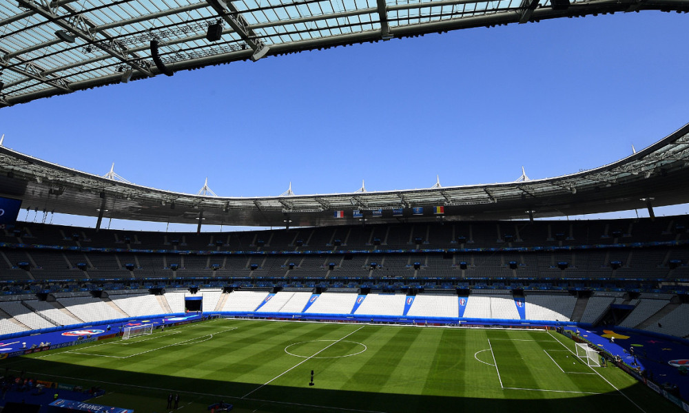 A picture taken on June 9, 2016 shows a general view of the Stade de France in Saint-Denis, north of Paris, on the eve of the Euro 2016 football tournament opening match.  FRANCK FIFE / AFP