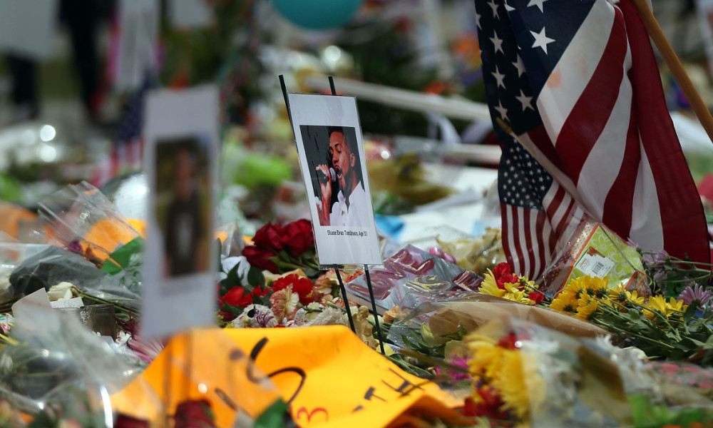 ORLANDO, FL - JUNE 17: A growing memorial to the victims of the Pulse nightclub attack sits in downtown Orlando on June 17, 2016 in Orlando, Florida. Omar Mir Seddique Mateen killed 49 people and wounded 53 others at the popular gay nightclub early Sunday. Spencer Platt/Getty Images/AFP 