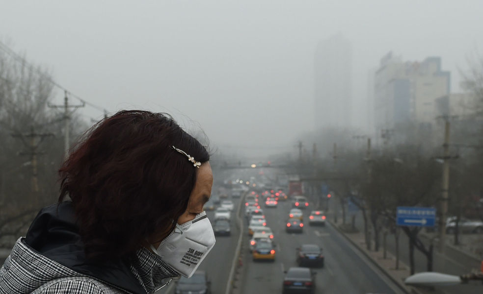 "La ville de Pékin a été placée en ""alerte rouge"" à la pollution atmosphérique. (Photo d&squot;illustration)"
