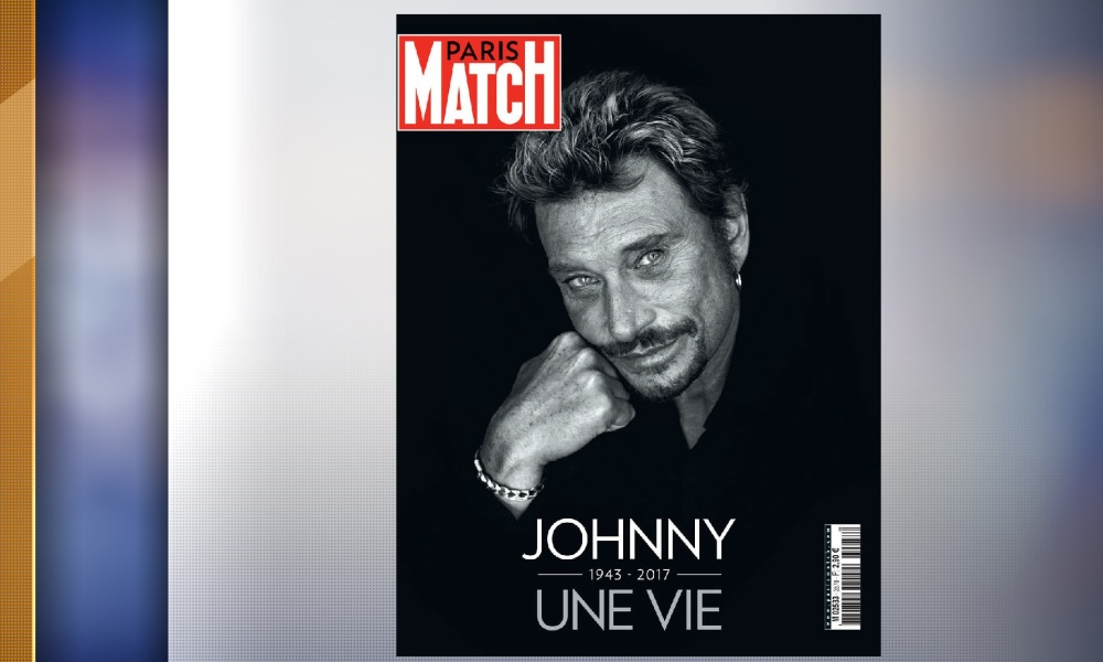 paris match le num ro consacr la mort de johnny hallyday s 39 est vendu 1 million d 39 exemplaires. Black Bedroom Furniture Sets. Home Design Ideas