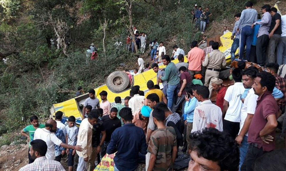 Accident d'autocar en Inde