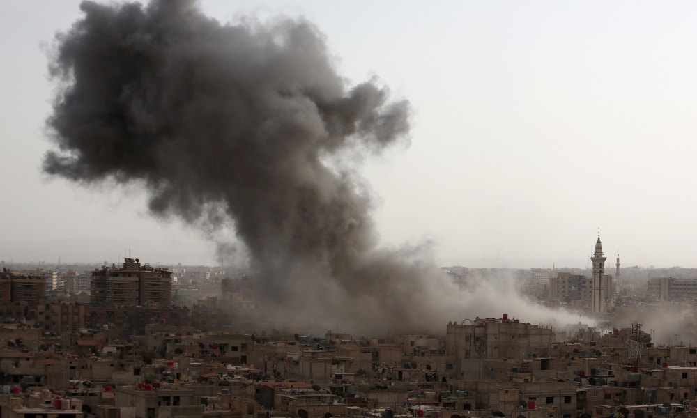 Un bombardement en Syrie. (photo d'illustration)