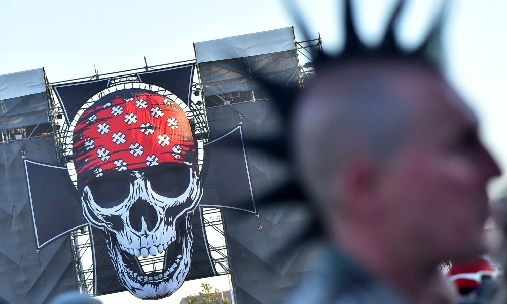 Un festivalier du Hellfest, en juin 2018 (photo d'illustration)
