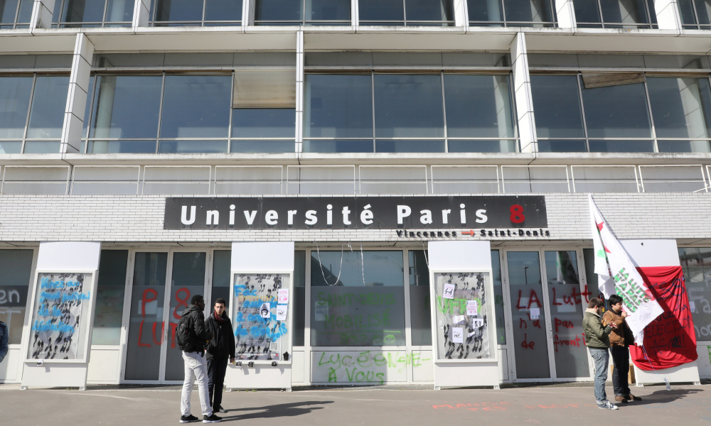 L'entrée de l'université Paris-8 Saint-Denis, en avril 2018.