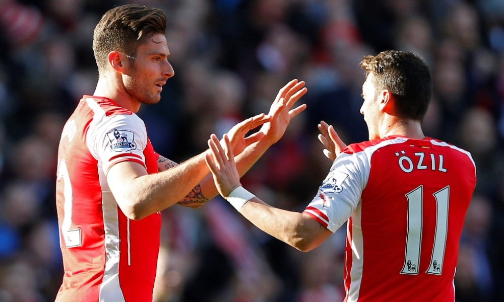 Arsenal retrouve le podium, Giroud le chemin du but