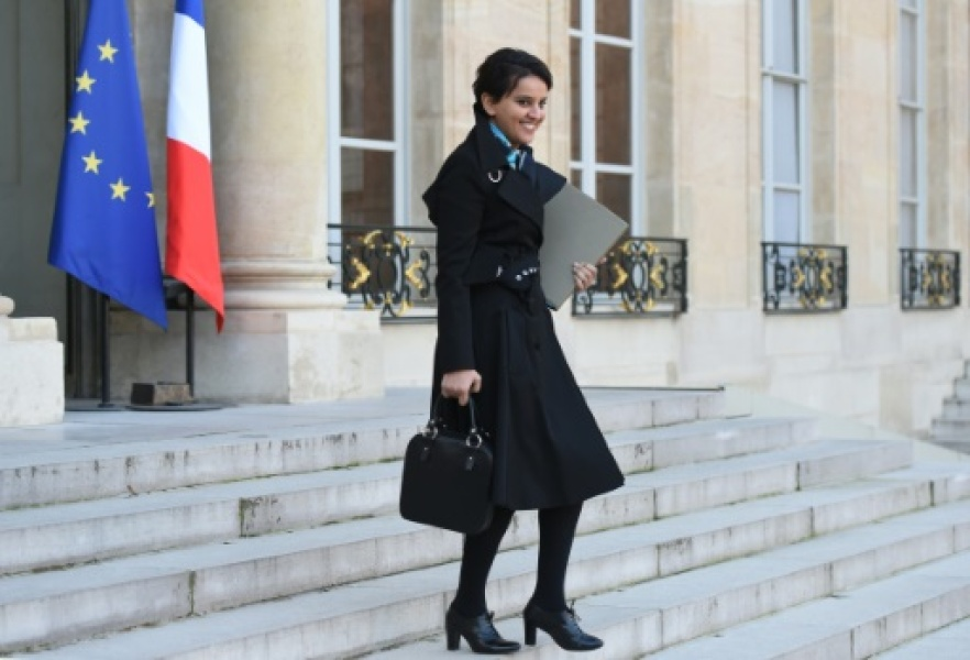 La ministre de l'Education nationale, Najat Vallaud-Belkacem, le 20 janvier 2016 à l'Elysée, à Paris