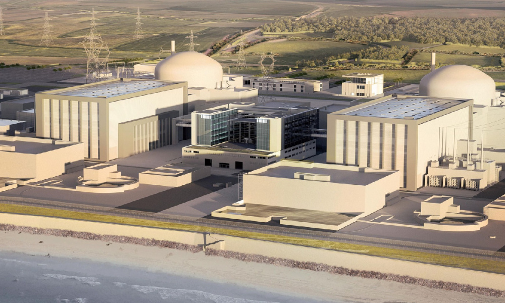 Maquette du futur complexe nucléaire d'Hinkley Point au Royaume-Uni. (photo d'illustration)