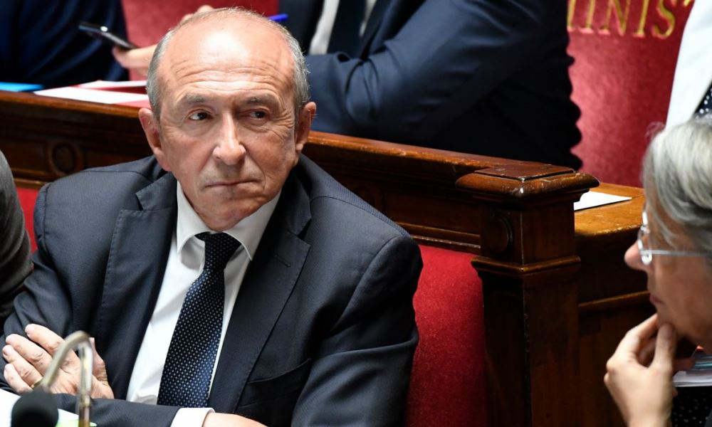 French Interior Minister Gerard Collomb attends a session of questions to the government at the National Assembly in Paris on July 24, 2018.  Bertrand GUAY / AFP