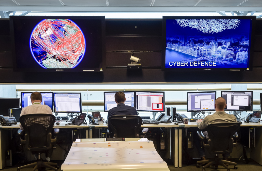 A general view of the 24 hour operations room at Government Communication Headquarters (GCHQ) in Cheltenham on November 17, 2015. AFP PHOTO / POOL / Ben Birchall  Ben Birchall / POOL / AFP