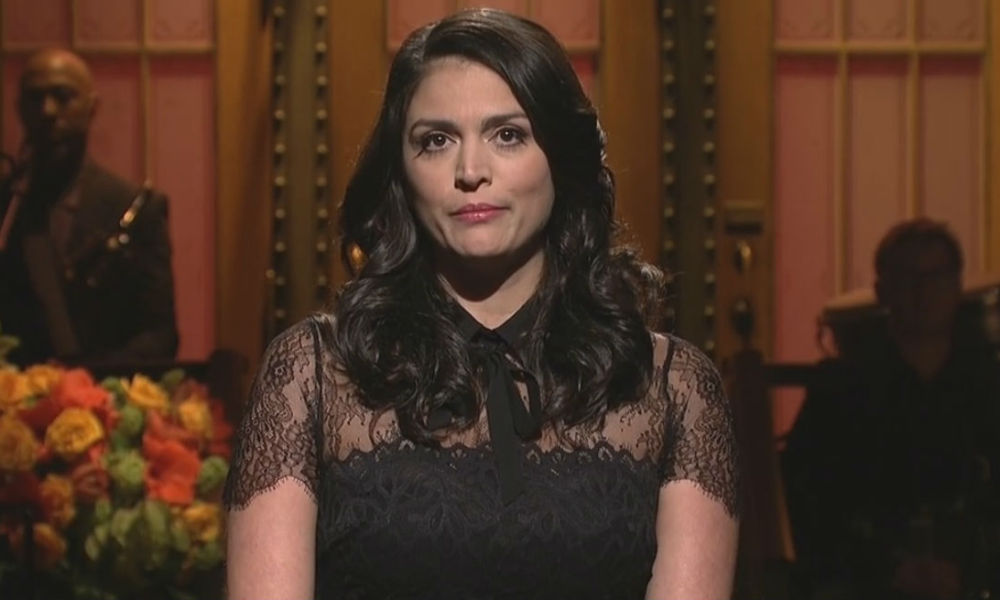 "Cecily Strong dans le ""Saturday Night Live"" le 14 novembre 2015."