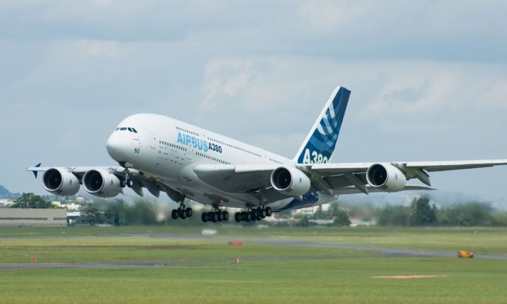 L'A380 d'Airbus (image d'illustration)