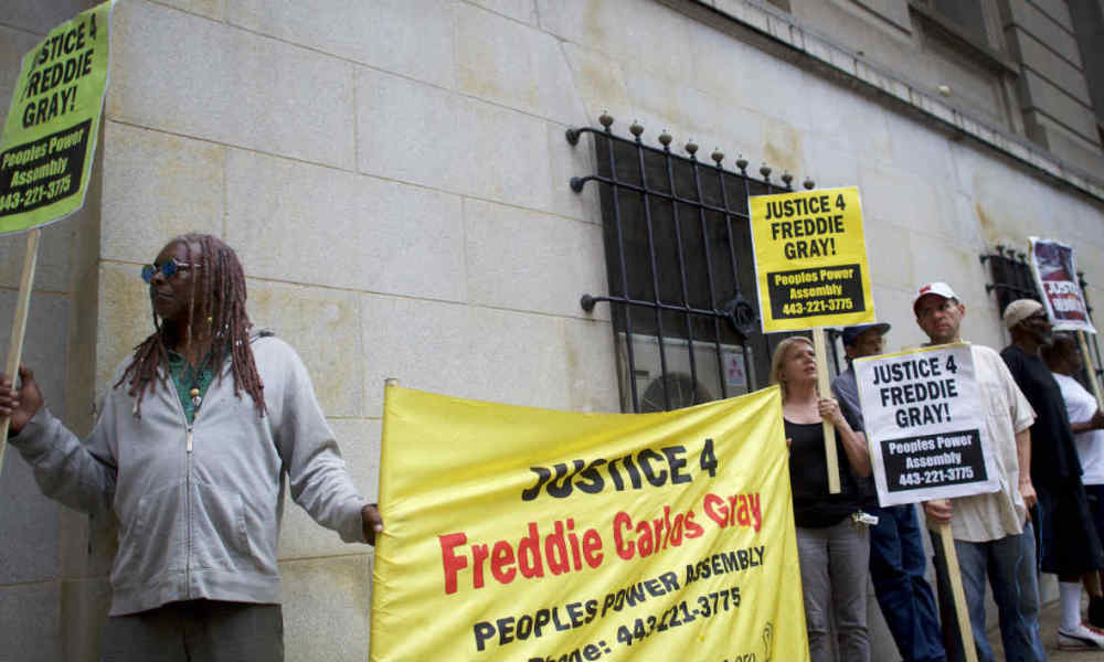 Des manifestants réclamant la justice pour Freddie Gray. (Photo d'illustration)