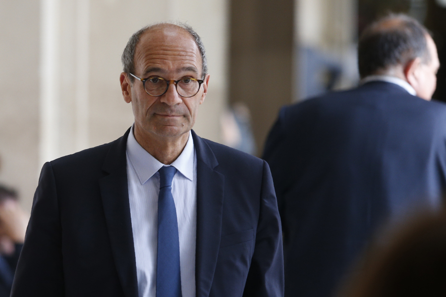 French right-wing Les Republicains (LR) party member of Parliament Eric Woerth arrives to attend an LR executive committee meeting on July 11, 2017, at the party headquarters in Paris.