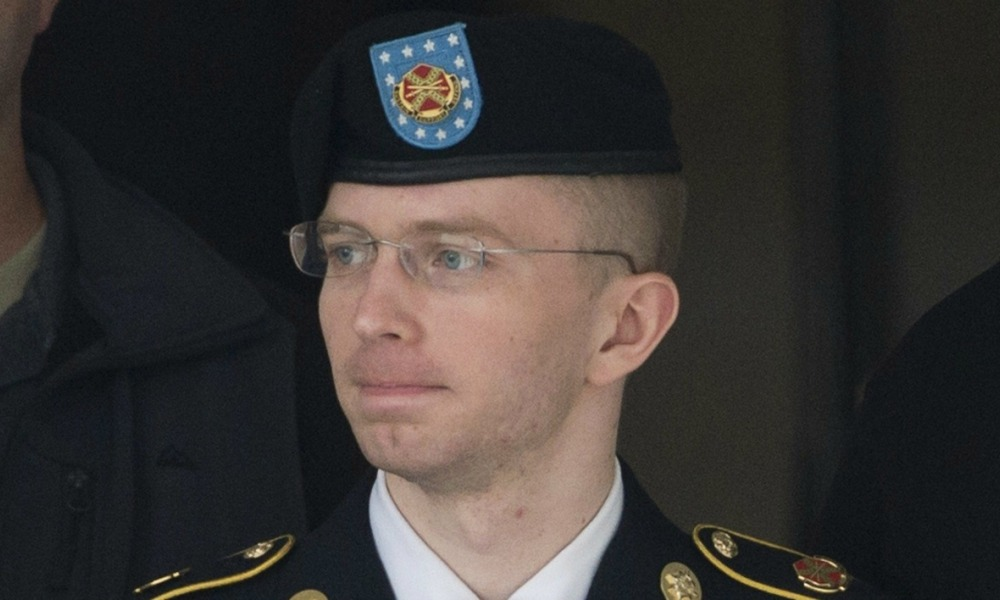 (FILES) This file photo taken on August 20, 2013, shows US Army Private First Class Bradley Manning departing a US military court facility as the sentencing phase continues in his trial at Fort Meade, Maryland. Imprisoned transgender soldier now known as Chelsea Manning was briefly hospitalized this week, a US defense official said on July 6 2016.