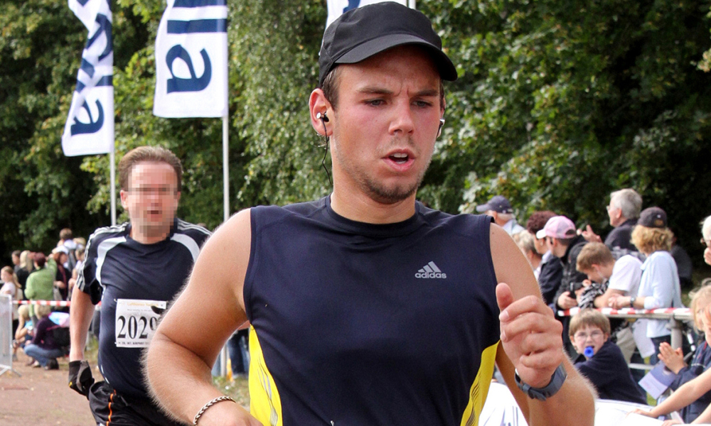 Picture released on March 27, 2015 shows the co-pilot of Germanwings flight 4U9525 Andreas Lubitz taking part in the Airport Hamburg 10-mile run on September 13, 2009 in Hamburg, northern Germany. Andreas Lubitz, the co-pilot who French authorities say appeared to deliberately crash a Germanwings flight, was a life-long flying enthusiast with no apparent psychological problems or terrorist links. into the French Alps, killing all 150 aboard, hid a serious illness from the airline, prosecutors said Friday amid reports he was severely depressed
