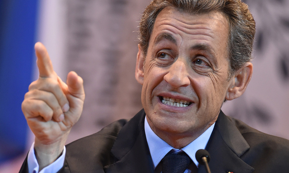 Former French president and President of the right-wing Les Republicains (LR) party Nicolas Sarkozy addresses students during his visit to the Moscow State Institute of International Relations (MGIMO) in Moscow on October 29, 2015.