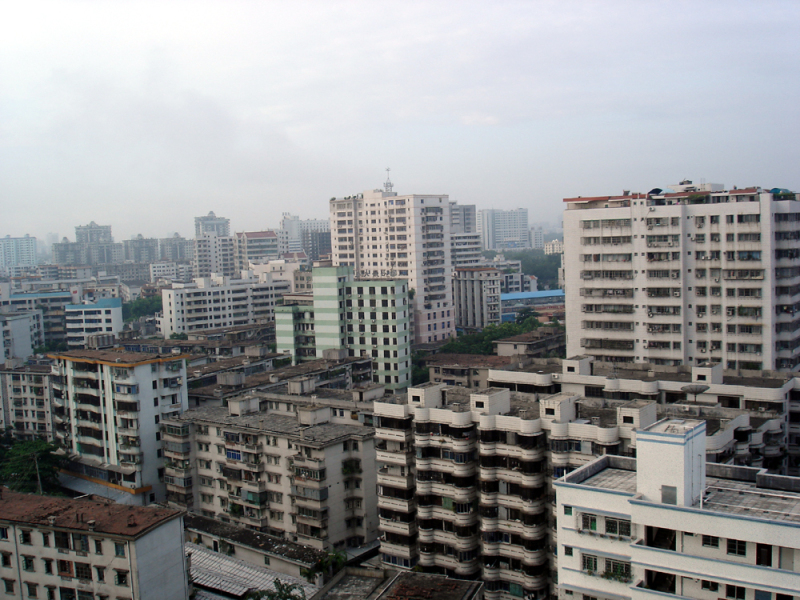 Vue de la ville d'Haikou. (illustration)