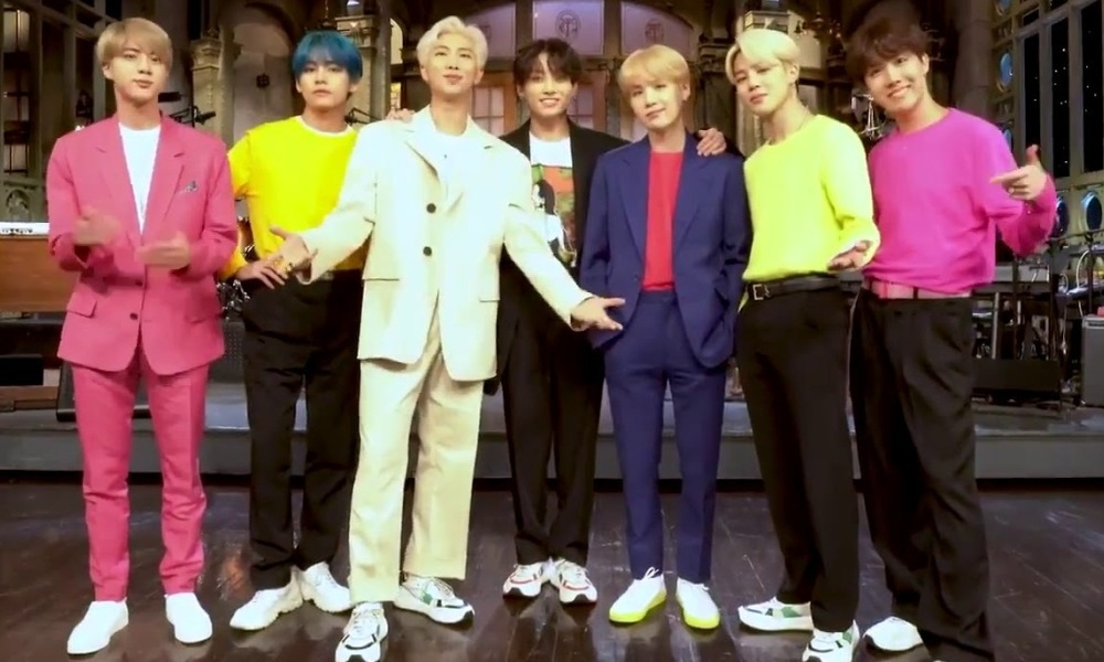 Le groupe BTS au Saturday Night Live