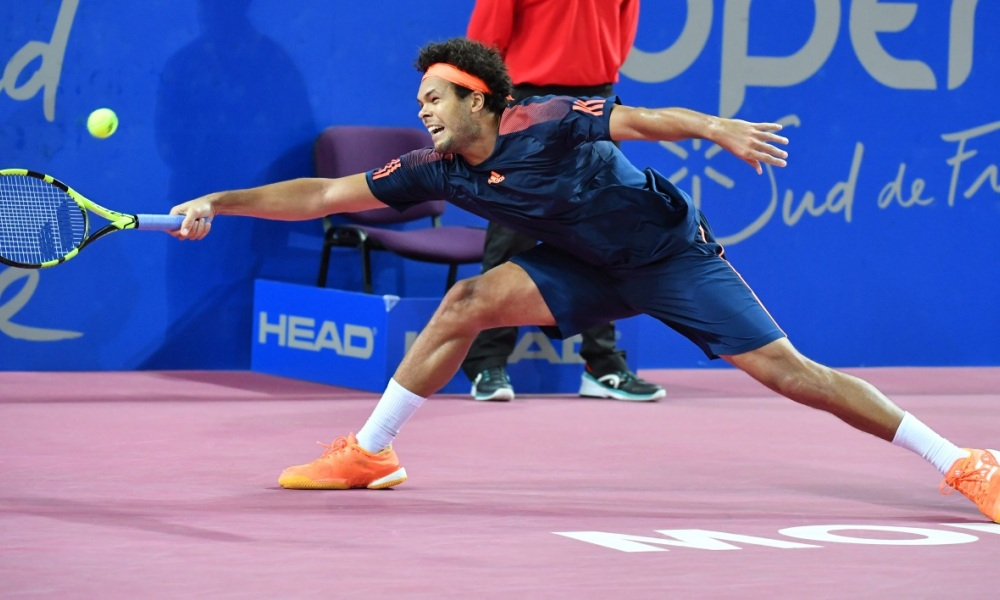 Jo-Wilfried Tsonga à l'Open Sud de France