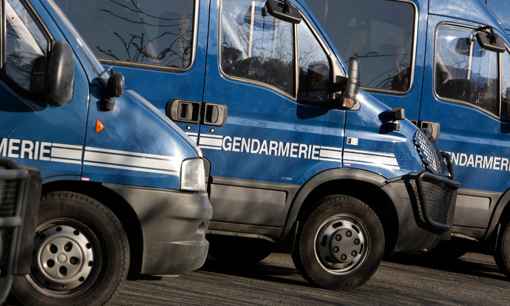 This picture taken on February 16, 2010 in Paris, shows trucks of the Gendarmerie, the French army police. AFP PHOTO LOIC VENANCE LOIC VENANCE / AFP
